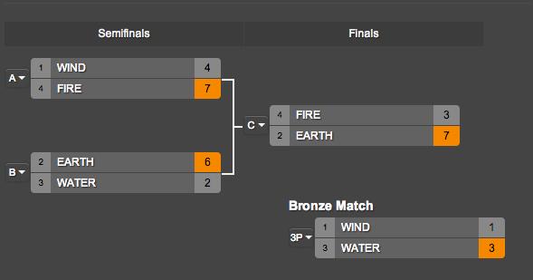 Tournament standings